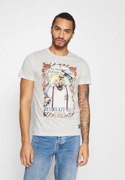 Brave Soul - RAZOR - T-shirt z nadrukiem - ecru marl