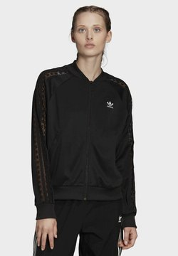 adidas Originals - LACE TRACK TOP - Giubbotto Bomber - black
