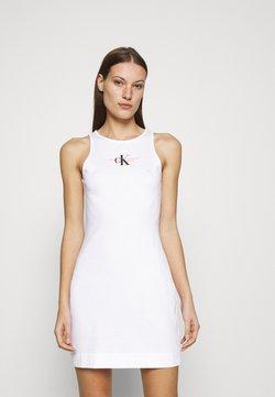 Calvin Klein Jeans - URBAN LOGO TANK DRESS - Vestido ligero - bright white