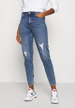 Pieces - PCKESIA MOM DESTROY - Jeans Relaxed Fit - medium blue denim