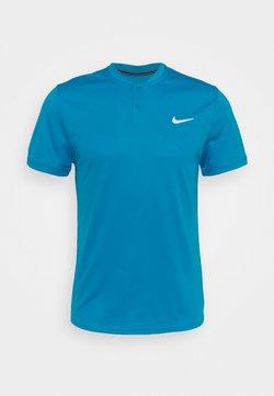 Nike Performance - DRY BLADE - T-Shirt print - neo turq/white