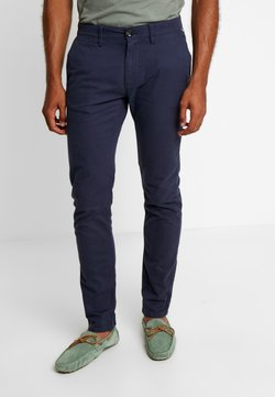 TOM TAILOR - WASHED STRUCTURE CHINO - Chinot - navy yarn dye structure