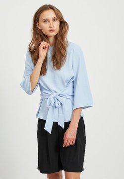 Vila - VIRASHA BOATNECK TIE TOP FAV - Bluse - kentucky blue