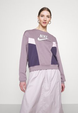 Nike Sportswear - HERITAGE CREW  - Sweatshirt - purple smoke/dark raisin/pink foam/white
