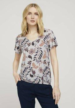 TOM TAILOR - MIT WEITEN ÄRMELN - T-Shirt print - white floral design