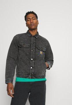 Carhartt WIP - STETSON JACKET PARKLAND - Jeansjakke - black worn washed