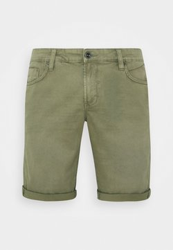 Cars Jeans - LUCKY FIVE POCKET - Denim shorts - army
