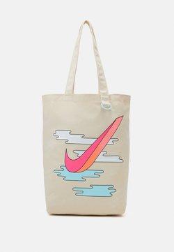 Nike Sportswear - HERITAGE UNISEX - Shopping Bag - natural/hyper pink