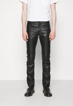 KARL LAGERFELD - PANTS - Pantalon en cuir - black