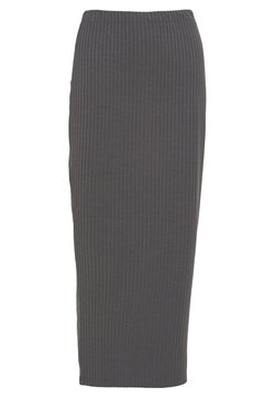 Nly by Nelly - MIDI SLIT SKIRT - Bleistiftrock - dark grey
