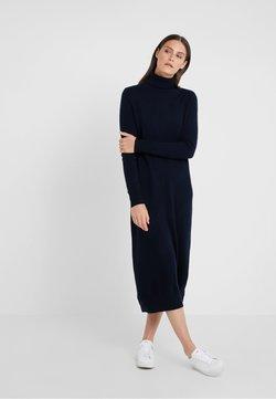 pure cashmere - TURTLENECK DRESS - Maxikleid - dark navy