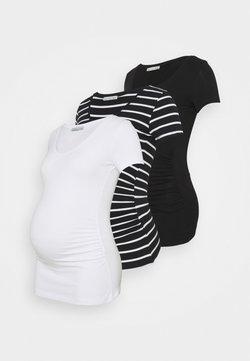 Anna Field MAMA - 3 PACK - Printtipaita - black /white/multi-coloured
