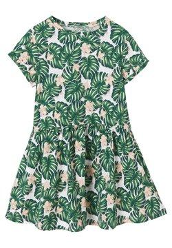 Vertbaudet - Jerseykleid - white / green palm