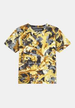 Versace - BAROCCO FLAGE UNISEX - Camiseta estampada - nero/oro
