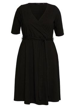 Dorothy Perkins Curve - CURVE WRAP DRESS - Freizeitkleid - black