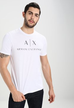 Armani Exchange - T-shirt con stampa - white