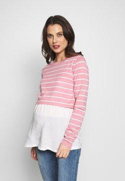 ohma! - NURSING STRIPPED - Jersey de punto - pink/white