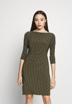 Lauren Ralph Lauren Petite - VICTORINA DAY DRESS - Vestido informal - oliva/gold/multi