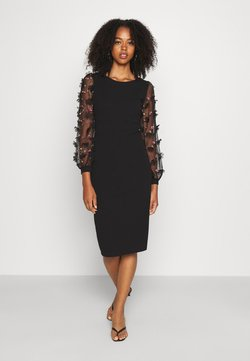 WAL G. - PUFF SLEEVE MIDI DRESS - Cocktailkleid/festliches Kleid - black
