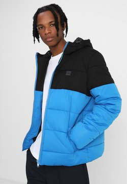 Urban Classics - 2 -TONE PUFFER  - Winterjacke - bright blue/black