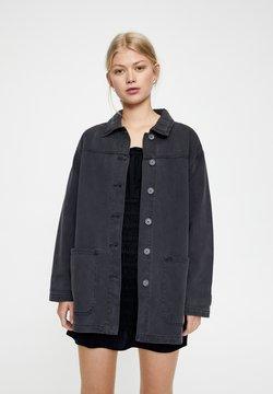 PULL&BEAR - Veste en jean - dark grey