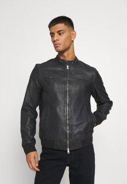 AllSaints - HALLOW - Leather jacket - black