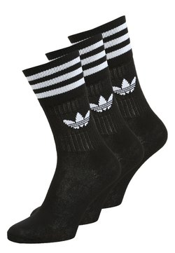 adidas Originals - SOLID CREW UNISEX 3 PACK - Socken - black/white