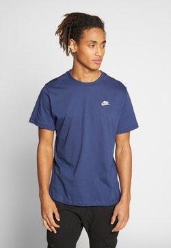 Nike Sportswear - CLUB TEE - T-Shirt basic - midnight navy/white