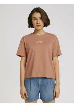 TOM TAILOR DENIM - T-shirt basic - clay rose