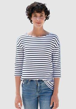Dress In - Langarmshirt - weiß/marineblau
