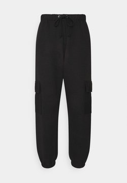 Missguided Petite - JOGGER UTILITY POCKET - Pantalones cargo - black
