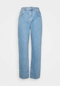 Topshop - ELASTIC BALLOON  - Jeans Straight Leg - bleached denim
