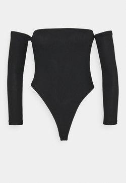 Missguided Petite - RECYLED BARDOT BODYSUIT - Langarmshirt - black