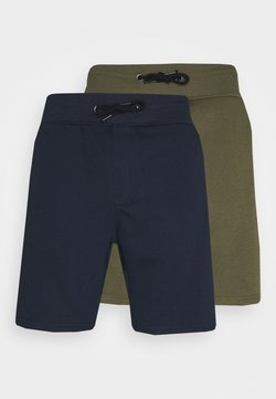 Pier One - 2 PACK - Shorts - khaki/dark blue