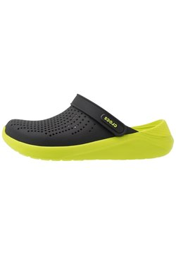 Crocs - LITERIDE - Zuecos - black/lime punch