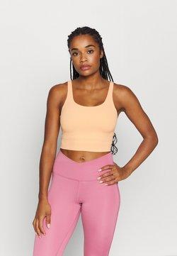 Nike Performance - YOGA LUXE CROP TANK - Funktionsshirt - orange chalk/gelati