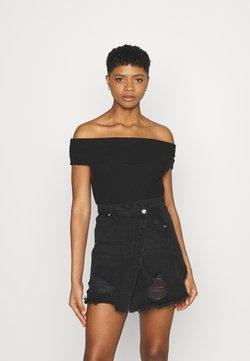 KENDALL + KYLIE - OFF SHOULDER - T-Shirt print - black