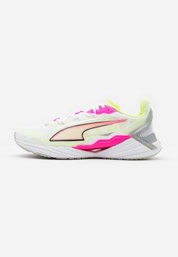 Puma - ULTRARIDE - Zapatillas de running neutras - white/luminous pink/fizzy yellow
