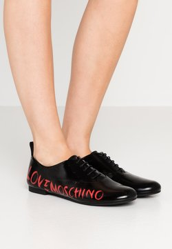 Love Moschino - LOGO PRINT - Veterschoenen - black
