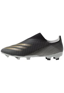 adidas Performance - X GHOSTED.3 FOOTBALL BOOTS FIRM GROUND - Fußballschuh Nocken - core black/metallic gold/grey two