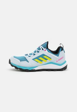 adidas Performance - TERREX AGRAVIC TR - Hikingschuh - hazy blue/acid yellow/crystal white