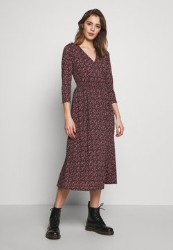 ONLY - ONLPELLA 3/4 DRESS - Day dress - black/route ditsy