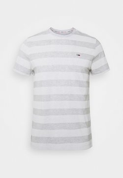 Tommy Jeans - HEATHER STRIPE TEE - Print T-shirt - white