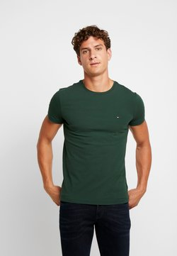 Tommy Hilfiger - STRETCH TEE - T-shirt print - green