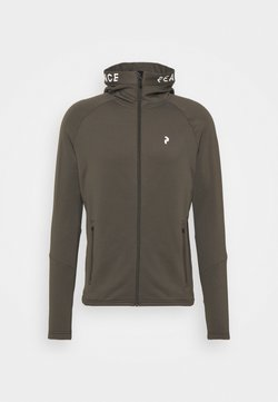 Peak Performance - RIDER ZIP HOOD - Fleecejacke - black olive