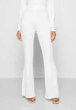 KENDALL + KYLIE - SLIT DETAIL PANTS - Broek - white