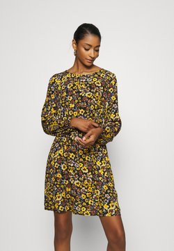 Vila - VIVELAFLORALI DRESS - Vapaa-ajan mekko - black