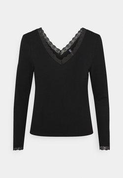 Pieces Petite - PCCILLA  - Camiseta de manga larga - black
