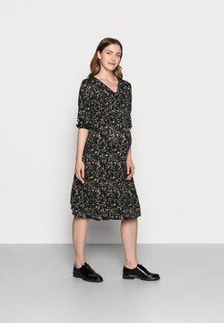 Dorothy Perkins Maternity - DITSY PRINT SHIRRED WAIST MIDI DRESS - Jerseykleid - black