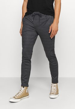 INDICODE JEANS - EBERLEIN WITH ROLL UP CHECK - Stoffhose - mecan grey